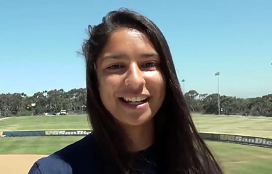 UC San Diego Student Affairs staff member - screen shot from short student services video