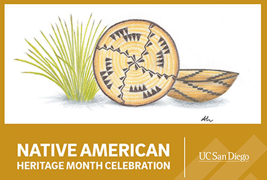 Native American Heritage Month (NAHM) celebration - illustrated text logo