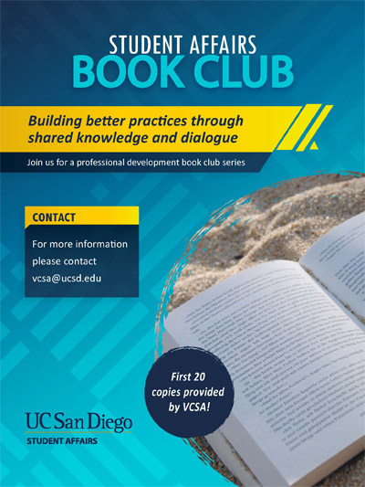 Student Affairs Book Club - text with graphics - first 20 copies of book provided by VCSA